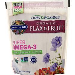 Garden Of Life Raw Organics - Flax & Fruit Super Omega-3 12 oz