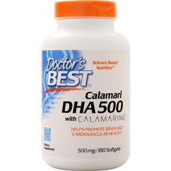 Doctor's Best Best DHA 500 from Calamari 180 sgels