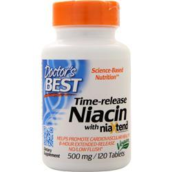Doctor's Best Time-release Niacin with NiaXtend (500mg) 120 tabs