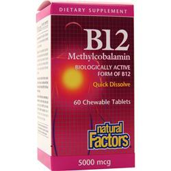 Natural Factors B12 Methylcobalamin (5000mcg) 60 tabs