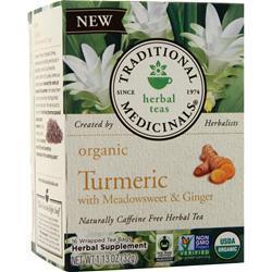 Traditional Medicinals Organic Herbal Tea Turmeric w/ Meadowsweet & 16 pckts
