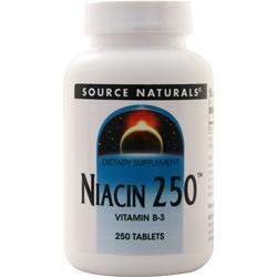 Source Naturals Niacin 250 250 tabs