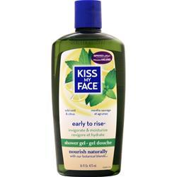 Kiss My Face Early to Rise - Exhilarating Bath and Shower Gel Wild Mint & Citrus 16 fl.oz