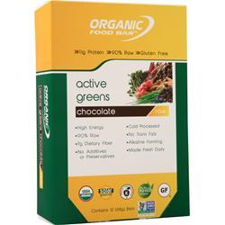 Organic Food Bar Active Green Bar Chocolate 12 bars