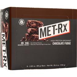 Met-Rx High Protein Brownie Chocolate Fudge 9 bars