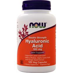 Now Hyaluronic Acid - Double Strength (100mg) 120 vcaps