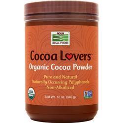 Now Cocoa Lovers Organic Cocoa Powder 12 oz