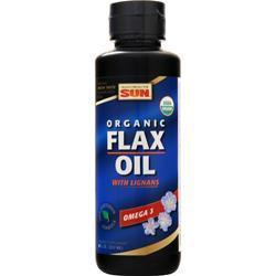 Health From The Sun Organic Flax Oil with Lignans 8 fl.oz