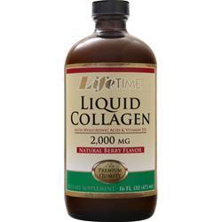 Lifetime Liquid Collagen with Hyaluronic Acid & Vitamin D3 Natural Berry 16 fl.oz