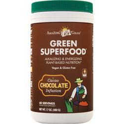 Amazing Grass Green Superfood Drink Powder Chocolate 17 oz