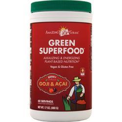 Amazing Grass Green Superfood Drink Powder Berry 17 oz