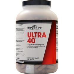 Beverly International Ultra 40 - 4X Beef Liver Concentrate 500 tabs