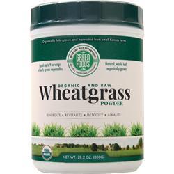 Green Foods Wheatgrass Powder - Organic and Raw 28.2 oz