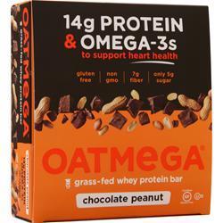 Boundless Nutrition Oatmega Grass Fed Whey Protein Bar Chocolate Brownie 12 bars