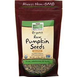 Now Certified Organic Pumpkin Seeds - Unsalted Unsalted 12 oz