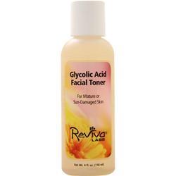 Reviva Labs Glycolic Acid Facial Toner Mature/Sun-Damaged Skin 4 fl.oz