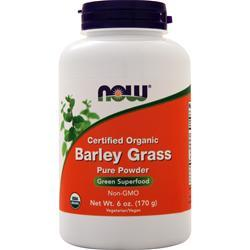 Now Barley Grass Powder Certified Organic On Sale At