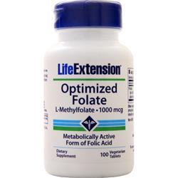 Life Extension Optimized Folate (1000mcg) 100 tabs