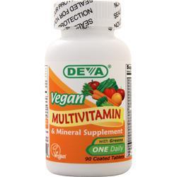 Deva Nutrition Vegan Multivitamin & Mineral Supplement 90 tabs