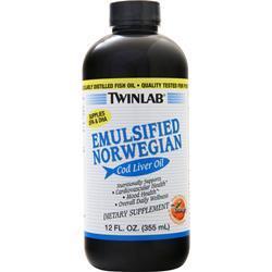 TwinLab Emulsified Norwegian Cod Liver Oil (liquid) Orange 12 fl.oz