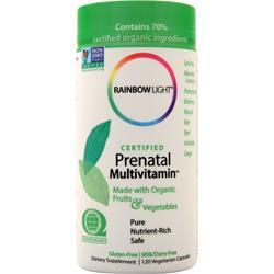 Rainbow Light Certified Organics - Prenatal Multivitamin 120 vcaps