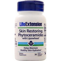Life Extension Skin Restoring Phytoceramides with Lipowheat 30 vcaps