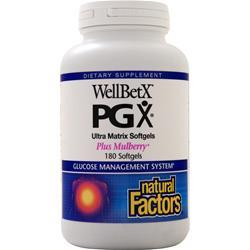 Natural Factors WellBetX PGX with Mulberry 180 sgels