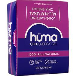 Huma Products Chia Energy Gel - 100% All Natural Blueberries 24 pckts