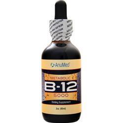 AnuMed B-12 Liquid (5000 mcg) 2 oz
