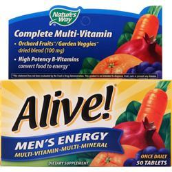 Nature's Way Alive Men's Energy Multivitamin - Multimineral Caffeine-Free 50 tabs