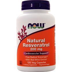 Now Natural Resveratrol 120 vcaps