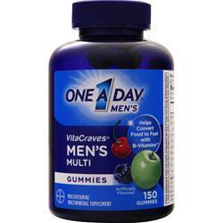 Bayer Healthcare ONE A DAY Men's VitaCraves Gummies Berry,Cherry,Apple EXPIRES 4/18 150 gummy