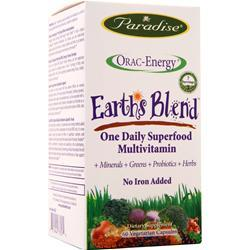 Paradise Herbs Orac-Energy Earth's Blend OneDaily Superfood Multi No Iron 60 vcaps