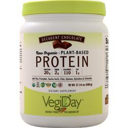 Natural Factors VegiDay - Raw Organic Plant Based Protein Decadent Chocolate 486 grams