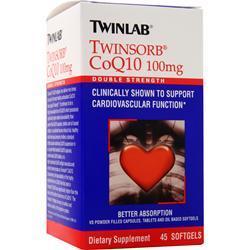 TwinLab TwinSorb CoQ10 (100mg) 45 sgels