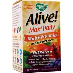 Nature's Way Alive! Max6 Daily Multi-Vitamin - Max Potency 90 vcaps