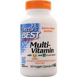 Doctor's Best Multi-Vitamin with Vitashine D3 and Quatrefolic 90 vcaps