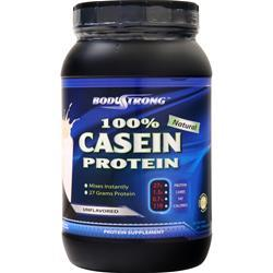 BodyStrong 100% Casein Protein Unflavored 2 lbs