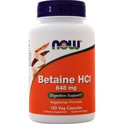 Now Betaine HCl 120 vcaps