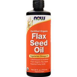 Now Flax Seed Oil (Certified Organic) 24 fl.oz
