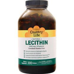 Country Life Lecithin (1200mg) 300 sgels