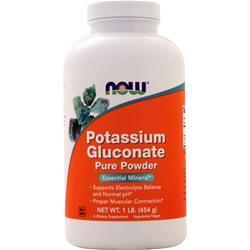 Now Potassium Gluconate Powder 100% Pure 1 lbs