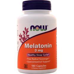 Now Melatonin (3mg) 180 caps