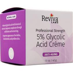 Reviva Labs 5% Glycolic Acid Creme Anti-Aging 1.5 oz