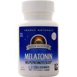 Source Naturals Melatonin (2.5mg) Peppermint 120 lzngs