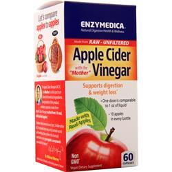 Enzymedica Apple Cider Vinegar with the Mother (355mg) 60 caps