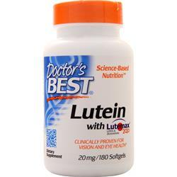 Doctor's Best Lutein with Lutemax 180 sgels