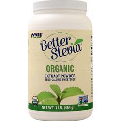 Now Better Stevia - Zero Calorie Sweetener (Certified Organic) 1 lbs