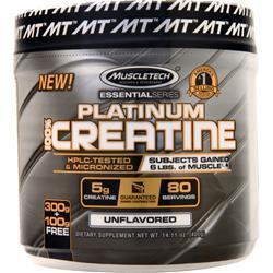 Muscletech Essential Series - Platinum 100% Creatine Unflavored 400 grams