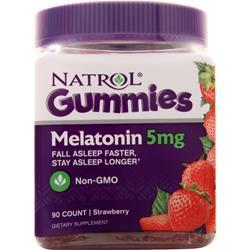 Natrol Melatonin Gummies (5mg) Strawberry 90 gummy